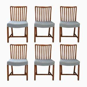 Kubanische Esszimmerstühle aus Mahagoni von Sondergaard Mobler, 1940er, 6er Set