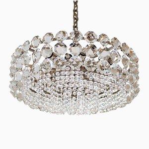 Großer Vintage Kristallglas Kronleuchter von Bakalowits & Sohne
