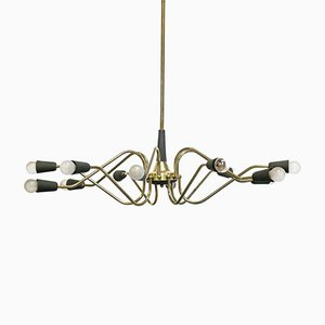 Lámpara de araña italiana vintage de Stilnovo