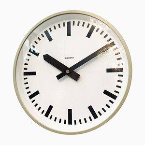 Horloge Murale d'Usine de Siemens, 1970s