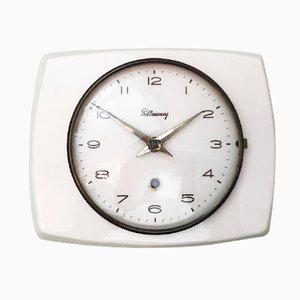 Mid-Century Ceramic Wall Clock from Pollmann, 1950s