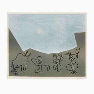 Bacchanal Color Linoleum Print by Pablo Picasso, 1959