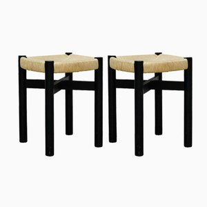 French Stools by Charlotte Perriand for Meribel, 1950s, Set of 2