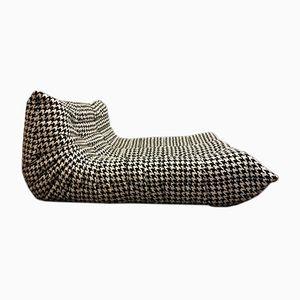 Togo Zwei-Sitzer Sofa in Schwarz & Weiß von Michel Ducaroy für Ligne Roset, 1974