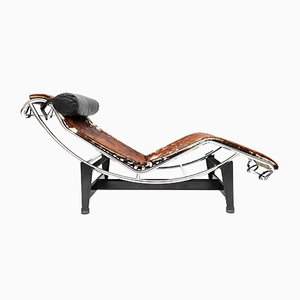 Vintage LC 4 Chaise Lounge by Le Corbusier, Jeanneret & Perriand for Cassina