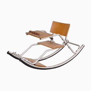 Children's Rocking Chair on Aluminum Base, 1950s