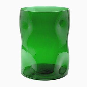 Jarrón Bugnato grande en verde de Eligo