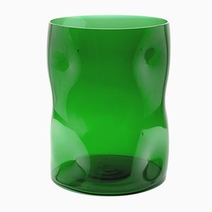 Large Green Bugnato Vase by Eligo