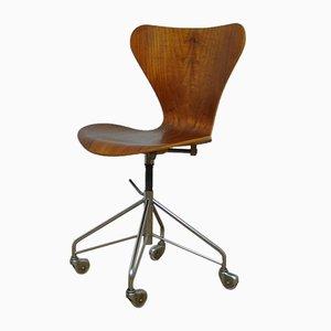 Early Edition Model 3117 Swivel Desk Chair by Arne Jacobsen for Fritz Hansen, 1960s