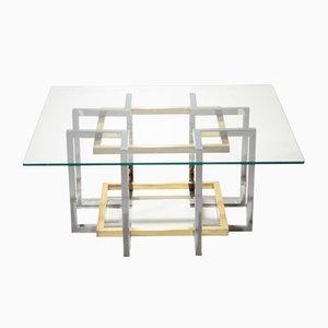 Brass & Chrome Coffee Table by Pierre Cardin, 1970s