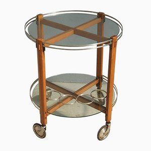 Italian Round Bar Cart, 1960s