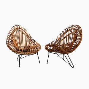 Basketware Lounge Chairs and Table by Janine Abraham and Dirk Jan Rol for Edition Rougier, 1955