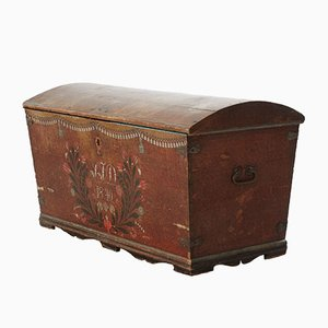 Antique Swedish Wedding Chest, 1840