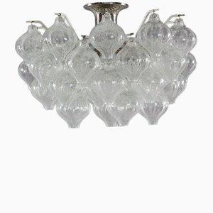 Lampada da soffitto Tulipan in cristallo di J.T. Kalmar, anni '60