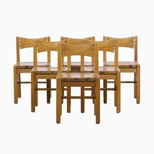 Pine Dining Chairs by Ilmari Tapiovaara for Laukaan Puu, 1960s, Set of 6