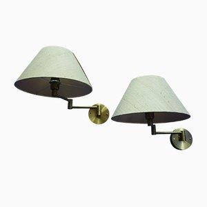 Schweizer Wandlampen von Temde, 1960er, 2er Set