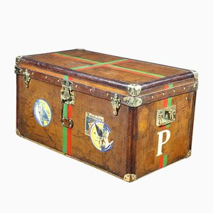 Leather Steamer Trunk with Key from Goyard, 1893