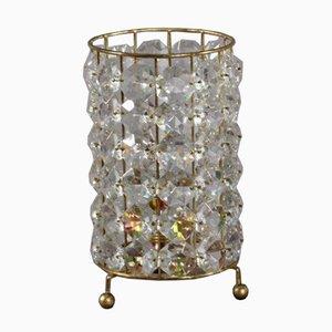 Lampe de Table en Verre Cristal de Bakalowits & Sohne, 1950