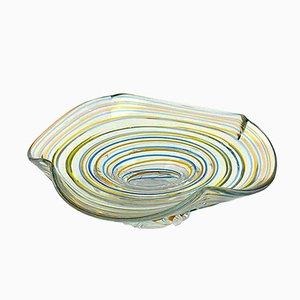 Centro de mesa italiano de vidrio coloreado, años 60