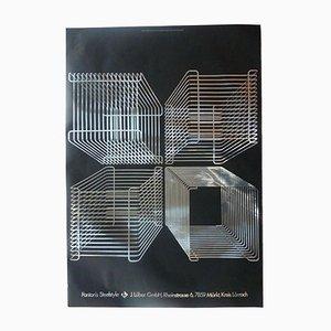 Vintage Verner Panton Wire System Poster von Hablützel & Jacquet für Lüber, 1970er