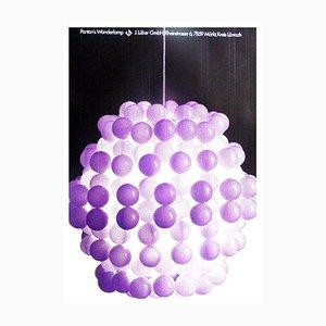 Poster vintage Wonderlamp per Lüber, anni '70