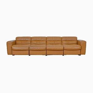 Sofá de cuatro plazas vintage de cuero con función relax de de Sede