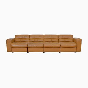 Vintage Four-Seater Leather Sofa with Relax Function from de Sede