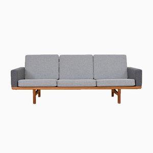 Sofá de tres plazas GE 236 vintage de Hans J. Wegner para Getama
