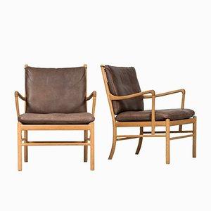 Easy Chairs Modèle PJ-149 Colonial par Ole Wanscher pour Poul Jeppesen, 1960s, Set de 2