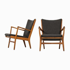 Mid-Century AP-16 Easy Chairs by Hans Wegner for AP Stolen, Set of 2