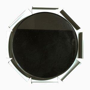 Espejo italiano retroiluminado de vidrio biselado, años 60