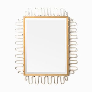 Decorative Brass Mirror, 1960s