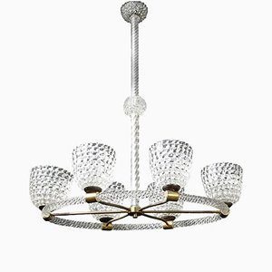 Rostrato Ceiling Light from Barovier & Toso, 1930s