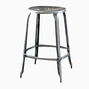 Grey Stool by Chaises Nicolle