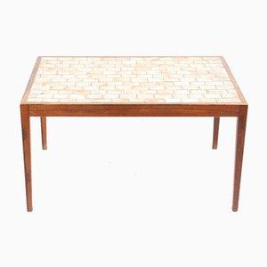 Table Basse Mid-Century en Palissandre avec Carreaux en Céramiques, 1960s
