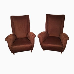 Vintage Italian Armchairs by Gio Ponti, 1950s, Set of 2