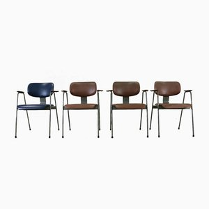 Chaises F1 Chairs par Willy van der Meeren pour Tubax, Set de 4