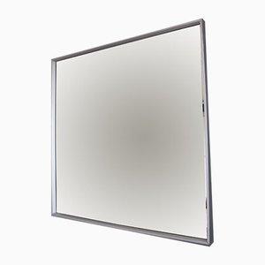 Quadratischer Vintage Spiegel mit Aluminium Rahmen