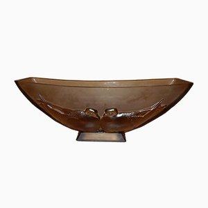 Scodella Art Nouveau in vetro di Verlys