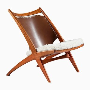 Vintage The Cross Lounge Chair Krysset by Fredrik Kayser for Gustav Bahus