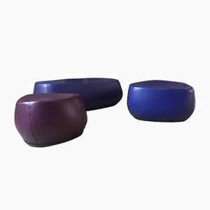 Fjord Stools by Patricia Urquiola for Moroso, 2002, Set of 3