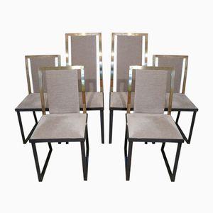 Französische Stühle von Michel Mangematin, 1970er, 6er Set