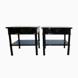 Tables d'Appoint en Bambou, France, 1970s, Set de 2
