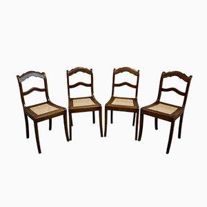 Sedie da pranzo Biedermeier antiche, set di 4