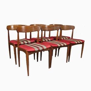 Palisander Esszimmerstühle von Johannes Andersen für Uldum M∅belfabrik, 1960er, 6er Set