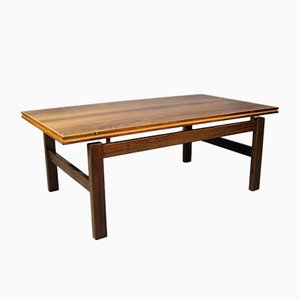 Danish Rosewood Coffee Table with Floating Top, 1960s