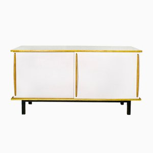 White Cansado Sideboard by Charlotte Perriand for Steph Simon, 1950s