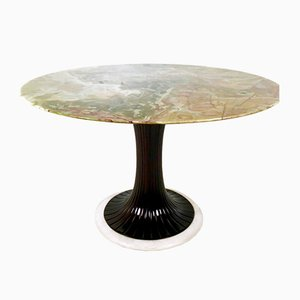 Pedestal Dining Table with Onyx Top by Osvaldo Borsani, 1950s
