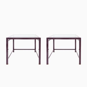 Purple Occasional Tables, 1980s, Set of 2