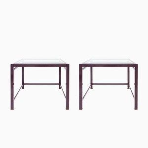 Tavolini di servizio viola, anni '80, set di 2